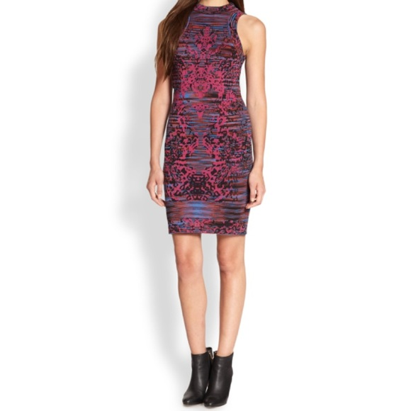 bf66733fd5c M Missoni sleeveless fuchsia sweater dress